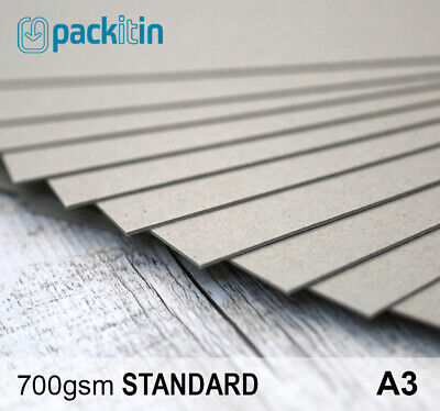 A3 Backing Boards - 25 sheets 700gsm - chipboard boxboard cardboard recycled
