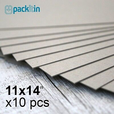 "11x14"" Backing Boards - 10 sheets 700gsm - chipboard boxboard cardboard recycled"