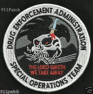Drug Enforcement Administration Dea Special Operations Team Skull Police Patch