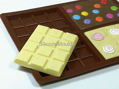 PACK 4 x 4 cell Medium Chocolate Candy Bar Professional Silicone Artisan Mould