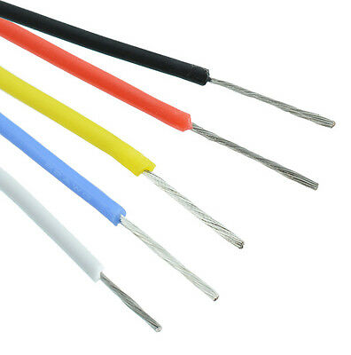 Red / Black / Blue / Yellow / White 22AWG Silicone 60/0.08mm Stranded Wire