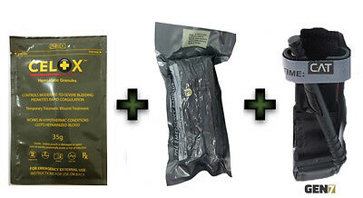"Special Offer: C-A-T + 6"" Israeli Bandage + Celox 35gr First Aid Kit IFAK EMS"