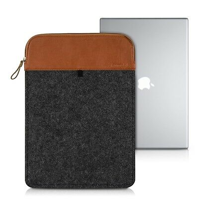 "kwmobile Laptop Sleeve Filz Dunkelgrau für Apple Macbook Pro 13"" Retina Tasche"