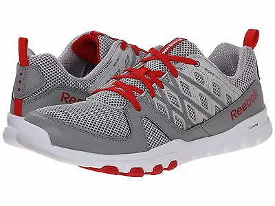 6e47b31def67 REEBOK Mens Sublite Train RS 2.0L Memory Tech Grey Red Running Sneakers NEW  9-