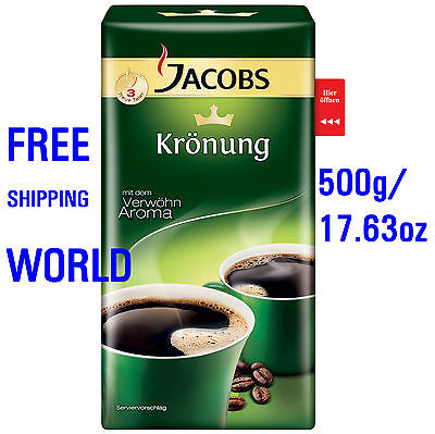 1x Jacobs Krönung Coffee Ground Coffee Germany's best - 500g - FREE SHIPPING