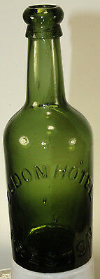 Antique Mineral Water Bottle Eldon Hotel Preston Blob Top