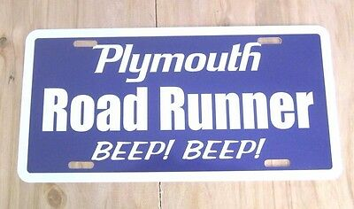 Plymouth ROAD RUNNER license plate tag purp 1968 1969 1970 1971 1972 1973 1974