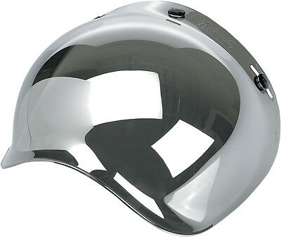 BILTWELL Bubble UV Shield/Visor for Open-Face Motorcycle Helmets (Chrome)