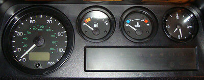 Land Rover Defender 90 110 200TDi 300TDi Dash Instrument Gauge Rubber Seal Set