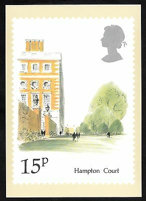 Postcard of stamp commemorating Hampton Court. Issued 1980