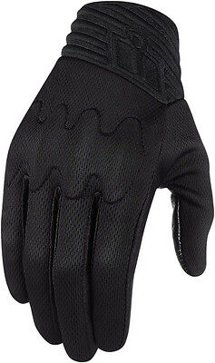 ICON ANTHEM STEALTH Textile Motorcycle Gloves (Stealth/Black) Choose Size