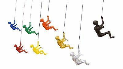 "New THE COLLECTION ALL COLOR Climbing man wall art home decor !6""H-3""W-3""D! 8PCS"