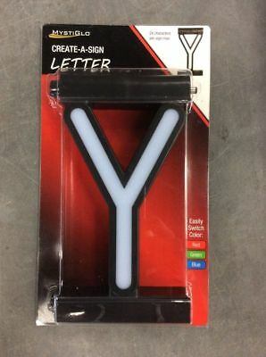 custom mystiglo business signage store create a sign 3 color light letter y