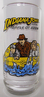 VINTAGE! 1984 7UP Indiana Jones and the Temple of Doom Glass-Raft