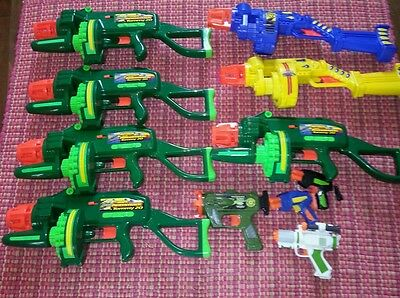 Motorized Automatic Tommy 20 Buzz Bee Toys Air Blasters lot eleven guns