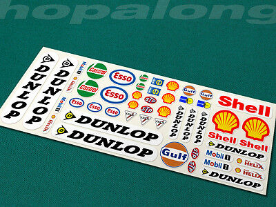 Scalextric/Slot Car Sponsor Sticker Decals x50. ps204