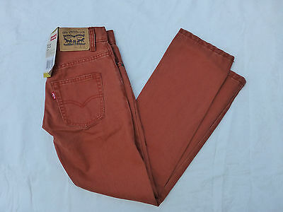 Nwt Boys Levis 511 Slim Fit Jeans $44 Burnt Henna Red 916914-293