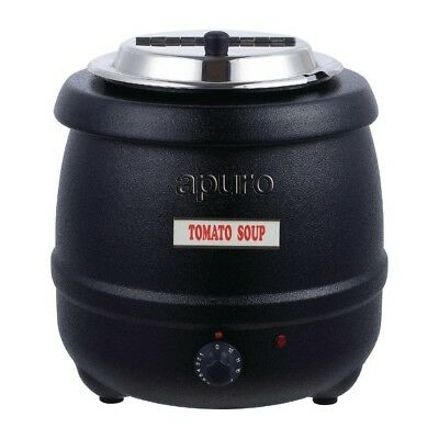 Soup Kettle / Warmer 10L Black, Commercial Quality, Chilli / Sauce / Curry Apuro