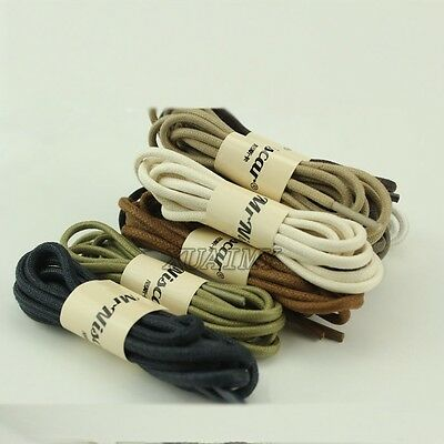 Colorful! Women Men Round Waxed ShoeLaces Bootlace for Brogue Leather Shoes Boot