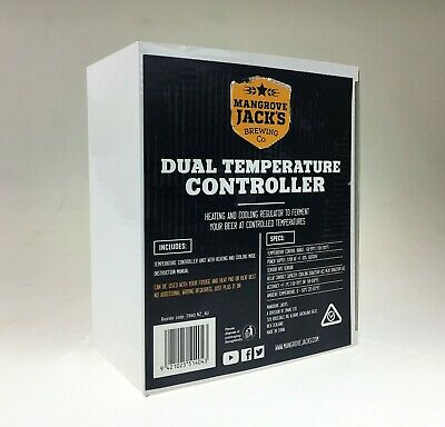 Temperature controller fridge thermostat heat and cool home brew brewing