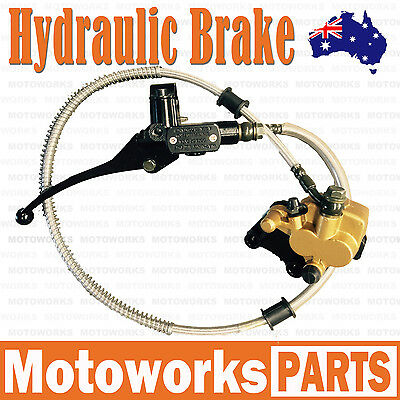 Hydraulic Front Disc Brake Caliper System+Pads 50cc 70cc 125cc PIT PRO Dirt Bike