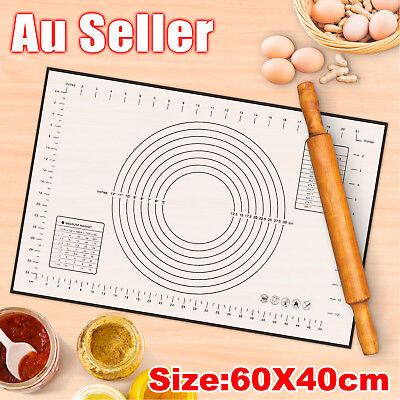 Large Size Silicone Rolling Cake Dough Mat Pastry Clay Fondant Baking Sheet60x40