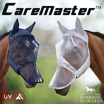 Harrison Howard horse Fly Mask Hood full face mesh Fleece padded Anti-UV