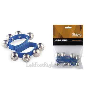 Stagg Blue Morris Dance Jingle Pack of 2 23cm SWRB4LBL Percussion Wrist Bell New