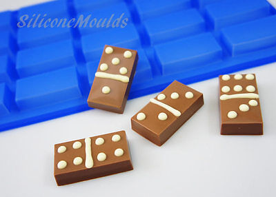 20 cell BLUE Mini Sample Bar Domino Chocolate Mould Candy Cake Pan Soap Wax Melt