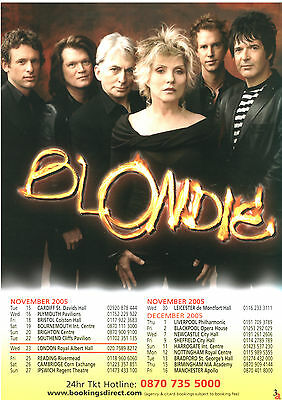 Blondie UK Tour 2005 Flyer glossy Deborah Harry concert promo Debbie Harry