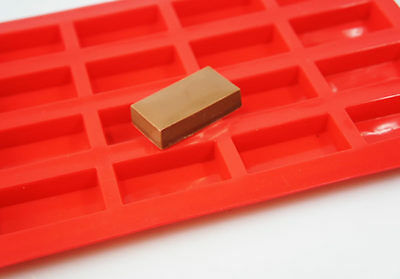 20 cell  Sample Size Mini Chocolate Bar Guest Soap Silicone Mould Wax Melts