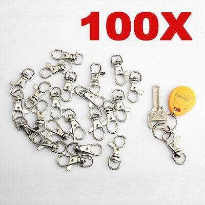 100x Lobster Clasps Swivel Trigger Clips Snap Lanyard Hook Bag Key Ring Keychain