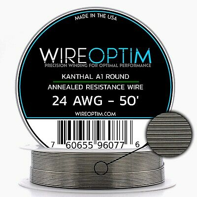 Kanthal 24 AWG Wire 50' Roll 0.51mm , 2.04 Ohms/ft Resistance