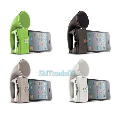 Hot Portable Soft Silicone Sound Amplifier Loud-speaker Horn Stand For iPhone 4