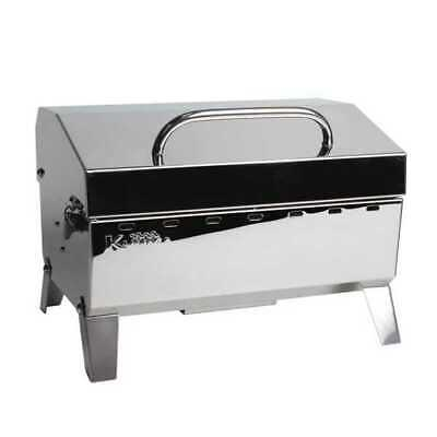 Kuuma Stow N Go 125 Barbecue Gas Grill 58140 Stainless Steel Marine Boat RV
