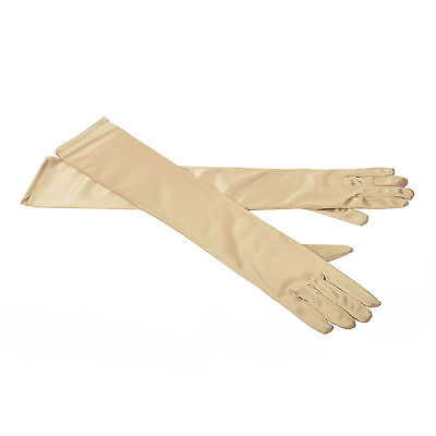 Long Stretchy Satin Bridal Wedding Prom Party Costume Opera Gloves
