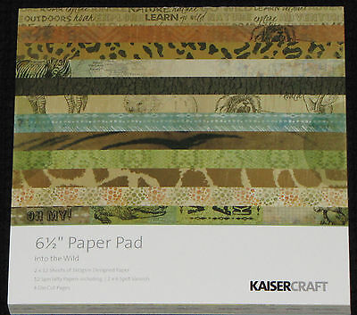 """Kaisercraft 'INTO THE WILD' 6.5"""" Paper Pad KAISER *Deleted 1 LEFT ONLY*"""