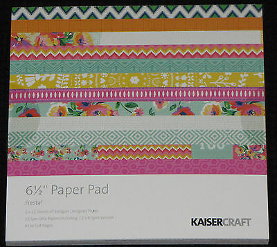 "Kaisercraft 'FIESTA' 6.5"" Paper Pad KAISER *Deleted 3 LEFT ONLY*"