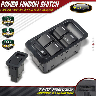 Master+Single Power Window Switch for Ford Territory SX SY Non-illuminated Black