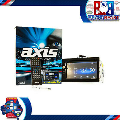 "Axis Ax1408nav 6.8"" Gps Navigation Bluetooth Ipod Iphone Android Usb Dvd Sd Au"