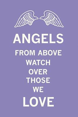 Angels From Above Watch Over Those We Love Art Print by The Vintage Collection,