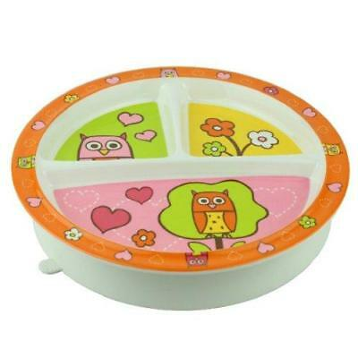 Sugarbooger Divided Suction Plate, Hoot New