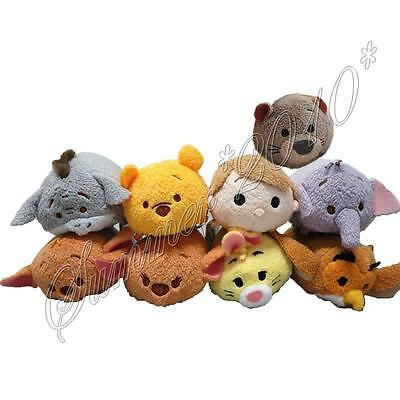 "Tsum Tsum Winnie the Pooh 100 Acre Wood Friends 3.5"" Mini Stackable Plush Doll"