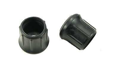 """2 Pack Steel Reinforced  1-1/4"""" Rubber Tips- Cane, Crutch or Chair CTR-1.250-B"""