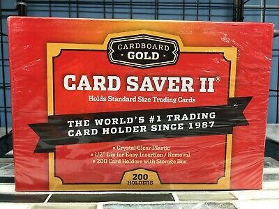 *READ!* SMALL Card Saver 2 Cardboard Gold POKEMON SIZE PSA 200 Ct Holders  #2200