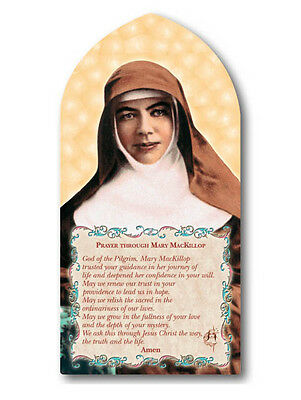 St Mary MacKillop Standing wooden arch plaque 20cm (H)