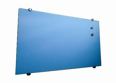 Glass Whiteboard Magnetic Blue 1200x600mm
