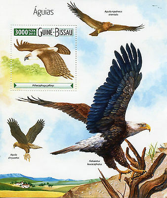Guinea-Bissau 2015 MNH Eagles 1v S/S Birds of Prey águias