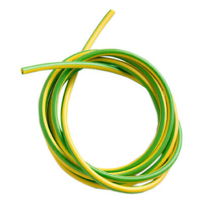 Green / Yellow Pvc Earth Sleeving Electrical Socket Lights Wire Cable