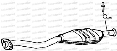 Citroen Saxo 1.6 Vts Nfx 4 Hatchback 01-04 Exhaust Catalytic Converter